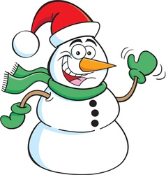 Cartoon Santa Snowman vector image vector image