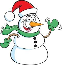 Cartoon Santa Snowman vector image vector image