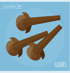 cloves flat design icon vector image vector image