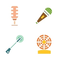 Different microphones icons vector