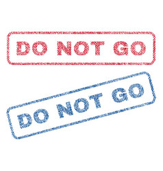 Do not go textile stamps vector