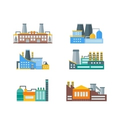 Factory Flat Set vector image vector image