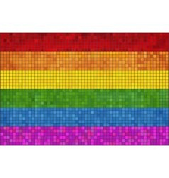 Gay pride mosaic flag vector image vector image