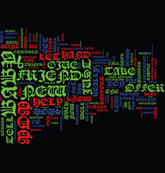 Give her a hand text background word cloud concept vector