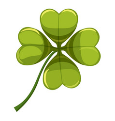 green leaf clover icon cartoon style vector image