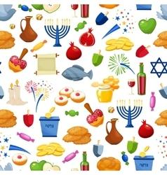 Happy Hanukkah Seamless background vector image
