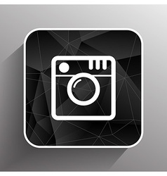 Hipster photo Camera icon Photo camera pictogram vector image vector image