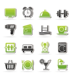 Hotel and Motel facilities icons vector image vector image