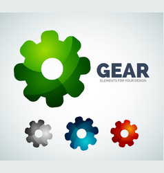 Industrial gear abstract icons vector