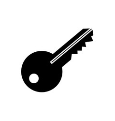 isolated door key vector image