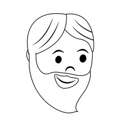 Man with long beard icon image vector