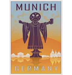 Munich vintage poster vector image vector image