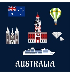 National australian symbols and icons vector