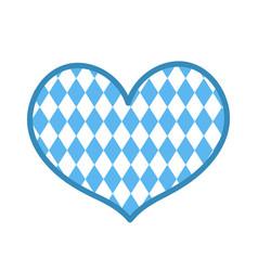 Oktoberfest in the heart shape icon is a flat vector
