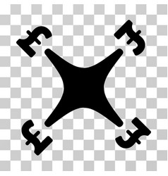 pound business drone icon vector image