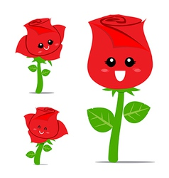 Rose cartoon 001 vector