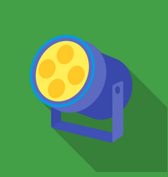 Spotlight icon in flate style isolated on white vector