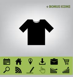 T-shirt sign black icon at vector