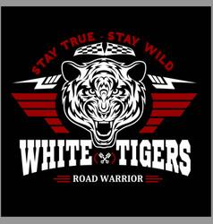 vintage tiger motorcycle label vector image