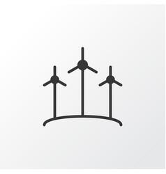 Wind power icon symbol premium quality isolated vector