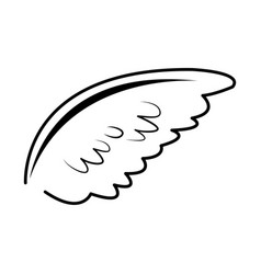 wing feather bird angel decoration abstract symbol vector image vector image