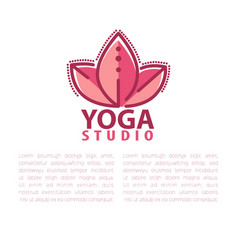 Yoga concept design template with copy space for vector