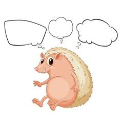 Cartoon Thinking Molehog vector image