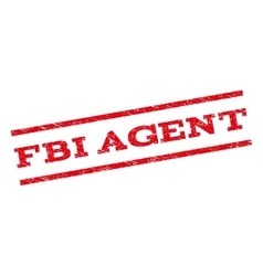 Fbi agent watermark stamp vector