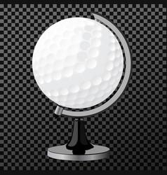 golf boll golf globe isolated over vector image
