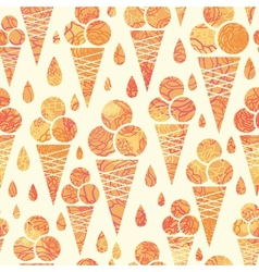 Summer ice cream cones seamless pattern background vector