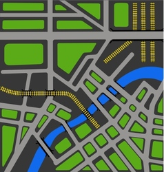 Map of city vector