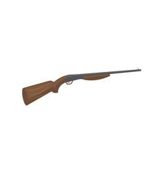 Hunting shotgun isolated icon vector