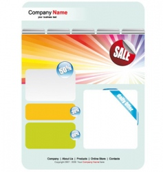 Web site sales template vector