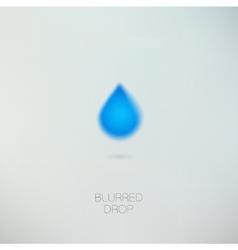 Clean pure water drop vector image