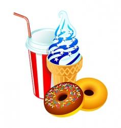 American dessert vector