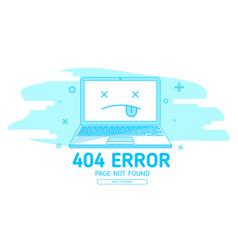 404 error with icon notebook error vector image vector image