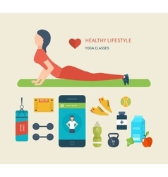 Concept of healthy lifestyle young woman vector