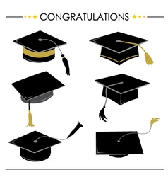 Congratulations hat graduation vector