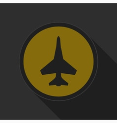 Dark gray and yellow icon - fighter vector