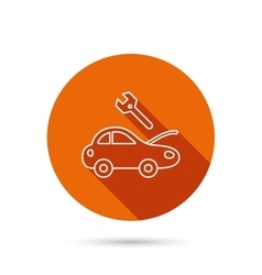 Car service icon transport repair sign vector