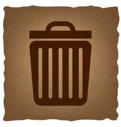 Trash sign vintage effect vector