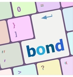 Bond button on computer pc keyboard key vector