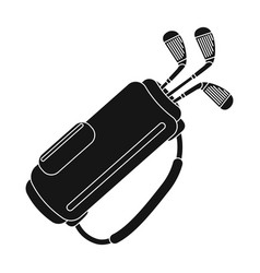 a bag with golf clubsgolf club single icon in vector image vector image
