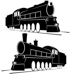 Abstract vintage locomotives-1 vector image vector image