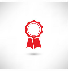 Badge red vector