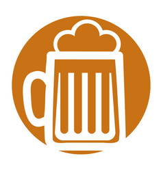 beer jar isolated icon vector image vector image