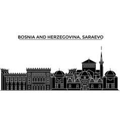 bosnia and herzegovina saraevo architecture vector image vector image