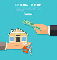 buy rent real estate vector image