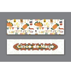 Cinco de mayo fifth of may day banners set vector
