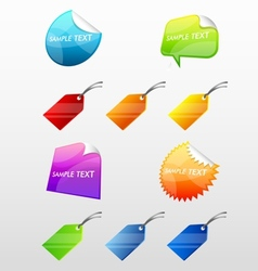 Colorful Web Stickers Tags and Labels Collection vector image vector image